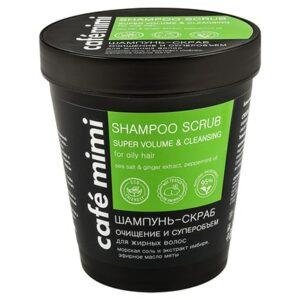 Champú exfoliante limpieza profunda y crecimiento | Café mimi