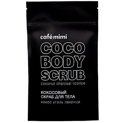 Exfoliante corporal de coco, carbón y regaliz | Café mimi