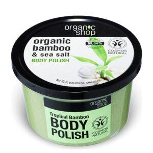 Exfoliante corporal bambú tropical & sal | Organic shop