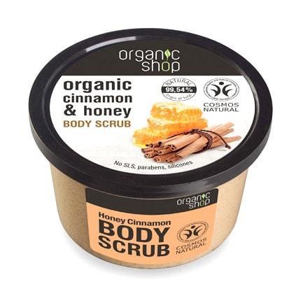 Exfoliante corporal de canela orgánica & miel | Organic shop