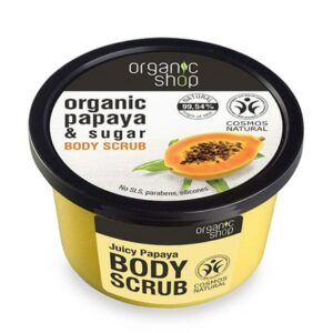Exfoliante corporal de papaya orgánica & azúcar | Organic shop