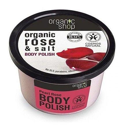 Exfoliante corporal espumoso perla de rosa & sal | Organic shop