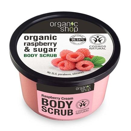 Exfoliante corporal frambuesa orgánica & azúcar | Organic shop