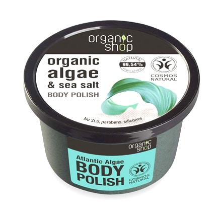 Exfoliante corporal de algas orgánicas & sal marina | Organic shop