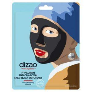 Mascarilla negra de ácido hialurónico y carbón | Dizao