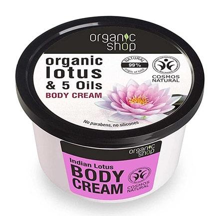 Crema corporal loto indio & 5 aceites | Organic shop