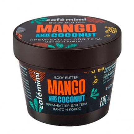 Crema-manteca corporal de mango y coco | Café mimi