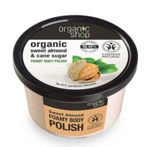 Exfoliante corporal almendra dulce orgánica & caña de azúcar | Organic shop