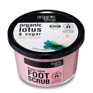 Exfoliante para piel de loto orgánico & azúcar | Organic shop