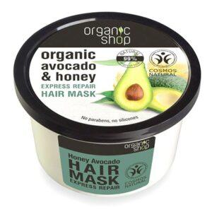 Mascarilla capilar reparadora express miel aguacate | Organic shop