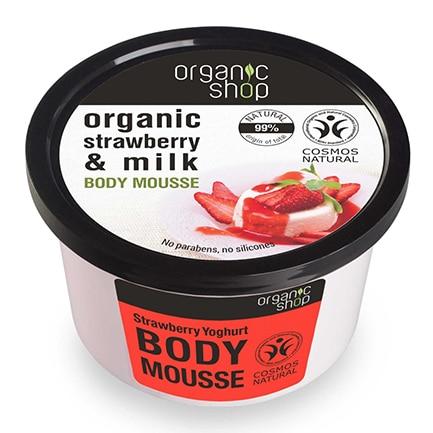 Mousse corporal de yogur de fresa | Organic shop
