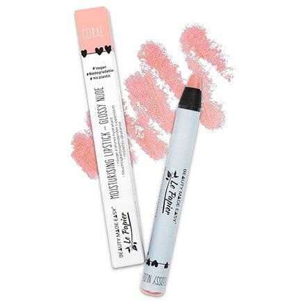 Lápiz de labios brillo natural - CORAL | Beauty Made Easy