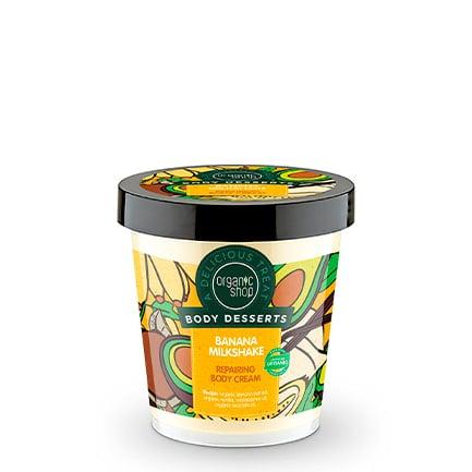 Crema corporal reparadora batido de plátano | Organic shop